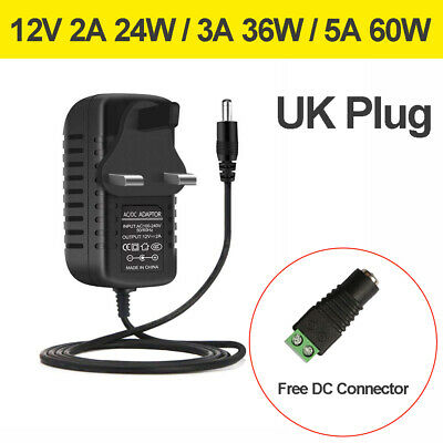 Ac Dc 12V 2A 3A 5A Power Supply Adapter Charger For Camera/Led Strip Light Cctv