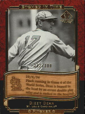 2003 (CARDINALS) SP Legendary Cuts Etched in Time 300 #DD Dizzy Dean /300