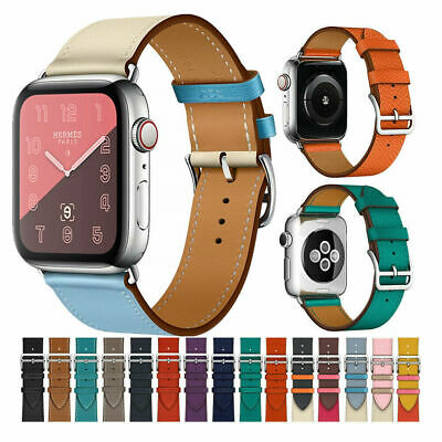Apple Watch Series 4 3 2 1 Band Single Tour Genuine Leather iWatch Strap 38-44mm