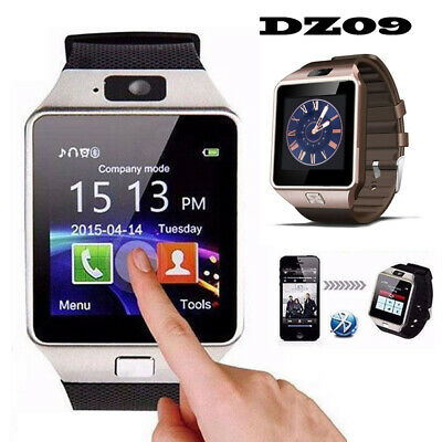 Wrist Watch Phone Bluetooth For Android GSM SIM Card Video Camera Smart DZ09