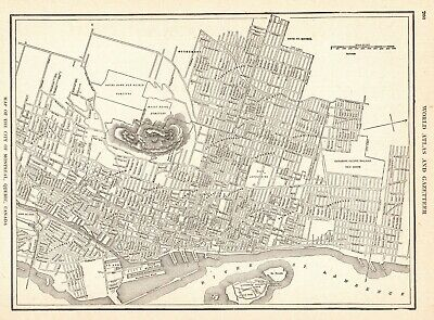 1923 Antique MONTREAL Canada Street Map of Montreal Canada City Map 6762