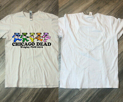 Grateful Dead and Company Chicago Cubs Dancing Bears Wrigley 2019 T Shirt