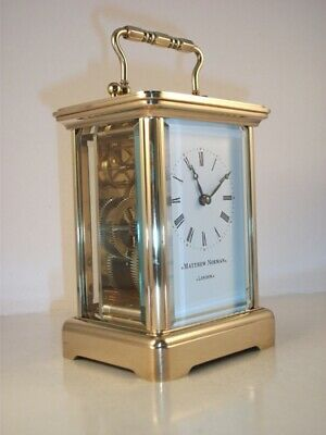 Exquisite Swiss  Carriage Clock & Key. Full Clean And Service May 2019.