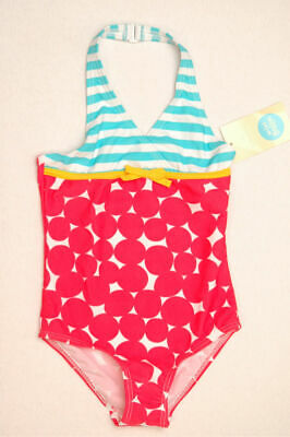 NEW MINI BODEN Girl Funky Print Bathing Swim Suit yellow turquoise pink 5 6 NWT