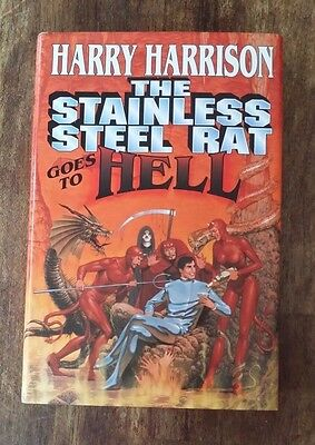 The Stainless Steel Rat Goes to Hell - Harry Harrison (1996 Hardcover) 1st Ed/Pr