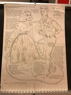 Vera Waters #4191 Wax Stencil for Textile Painting Square Dancing Vintage Used