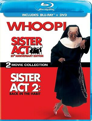 Sister Act / Sister Act 2 Back in the Habit (Blu Ray / DVD, 3-Disc, 2012)