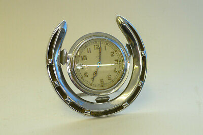 Super Quality Novelty SMITHS 8-day mantel/desk HORSESHOE Chrome strut clock