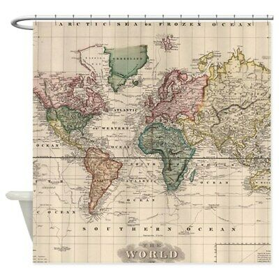 "69/""x70/"" CafePress Old World Map Decorative Fabric Shower Curtain 1607546327"