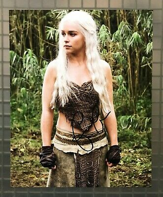 Emilia Clarke Signed 8x10 GAME OF THRONES Photo AUTO Daenerys Targaryen w/ COA