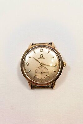 Vintage Mens Omega automatic 14k Gold Watch Face Working