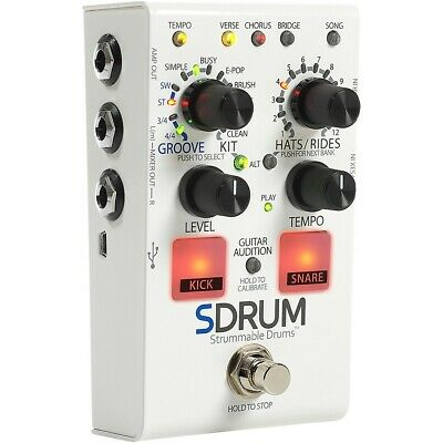 DigiTech SDRUM Auto-Drummer Pedal with BeatScratch Pads  LN