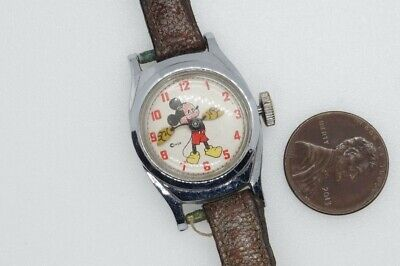Vintage Disney Mickey Mouse Small Lady's / Child's Wristwatch $1 No Reserve