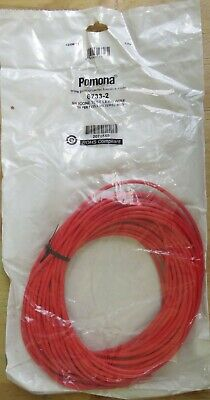 Pomona 6733-2 Silicone Test lead Wire 50 Feet (15.2 Meters ) Red