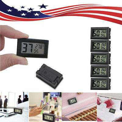 US 5x Mini LCD Digital Hygrometer Humidity Thermometers Indoor Temperature Meter