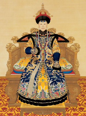 "perfect oil painting handpainted on canvas""Empress XiaoSheng, 1751, ""@9556"