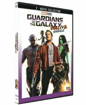 Guardians of the Galaxy Vol. 1 & 2 (2-Movie Collection DVD 2018)  Free Shipping!