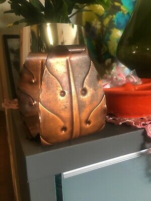 SMALL Pair ARTS & CRAFTS Signed CRAFTSMAN COPPER BOOKENDS Hand Crafted