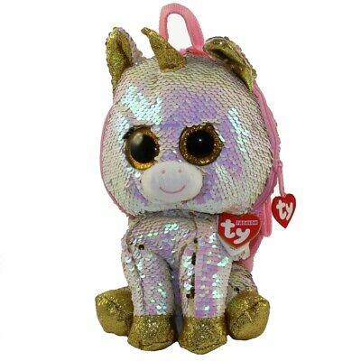 "TY Fashion 13/"" SLUSH Husky Flippy Color Changing Sequin Backpack w// Heart Tags"