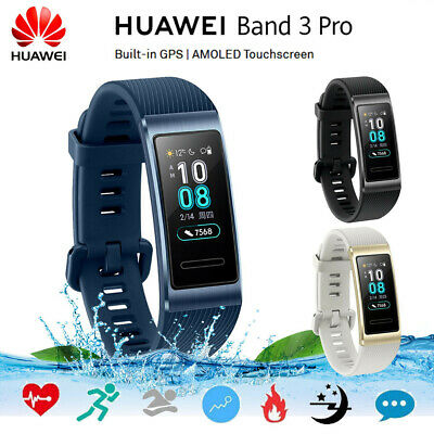 HUAWEI Band 3 Pro 0.95-Inch AMOLED Screen 120*240 5ATM BT4.2 GPS Fitness Tracker