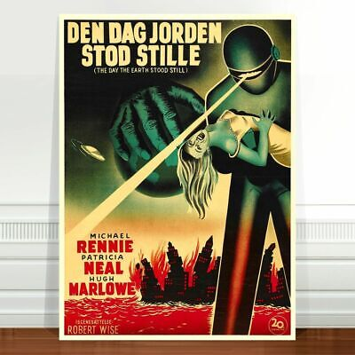 "Vintage Sci-fi Movie Poster Art ~ CANVAS PRINT 8x10"" Day the Earth Stood Still"