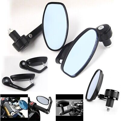 2Pcs Universal Motorcycle Handle Bar End Side Mirrors Bike/Motorbike Rearview