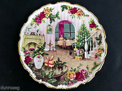 Old Country Roses Christmas Magic Plate, Good Condition, 1988, Royal Albert