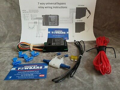 teb7as towing electronics smart 7 way bypass relay towbar 12s socket wiring mp3877b 12v 7 way bypass relay