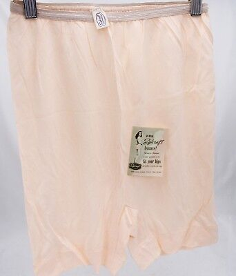 VTG 1940s Stylecraft Panties Tea Rose Pink Rayon  Pin-Up NOS Sz 5 Womens Briefs2