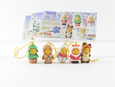 Winnie the Pooh Puuh == Walt Disney 5 Figuren Tomy Christmas Wear Handy Anhänger