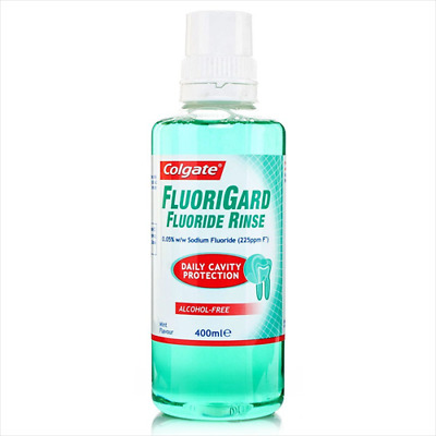 Colgate Fluorigard Alcolhol Free Rinse 400ml Multi Pack Available