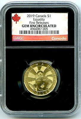 2019 Canada $1 Equality Ngc Gem Unc Dollar Loon Loonie First Releases Black