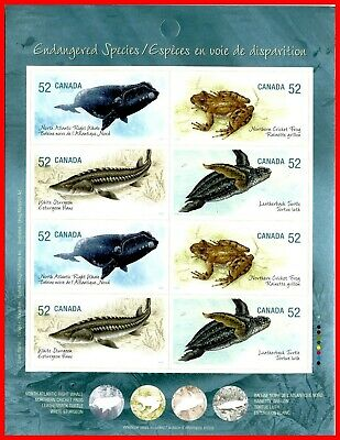Canada Stamp Mint Full Booklet  #2233b(2230-33) - Endangered Species (2007)