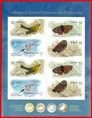 Canada Stamp Mint Full Booklet  #2289b(2286-89) - Endangered Species (2008)