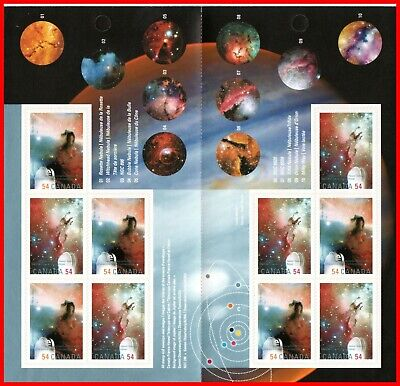 Canada Stamp Mint Booklet(BK402) #2325a(2324-5)  International Year of Astronomy
