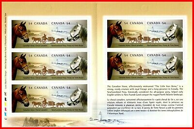 Canada Stamp Mint #2330a - Booklet(BK403) #2330a(2329-30) - Canadian Horses 2009