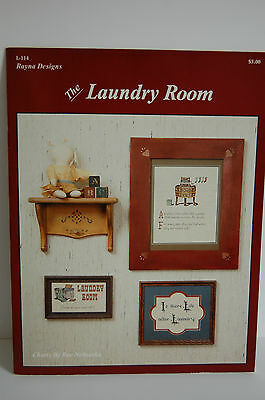 Rayna Designs Cross StitchThe Laundry Room Is there Life After Laundry OOP 1984