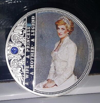 Princess Diana Silver Coin English Royal Family British Great Britain Paris USA