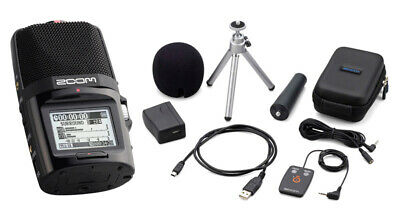 Zoom H2n Portable Stereo Mid-Side Recorder and Accessories Bundle (NEW)