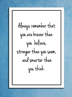 Metal signs plaques Always Remember Braver printed quotes wall art home decor