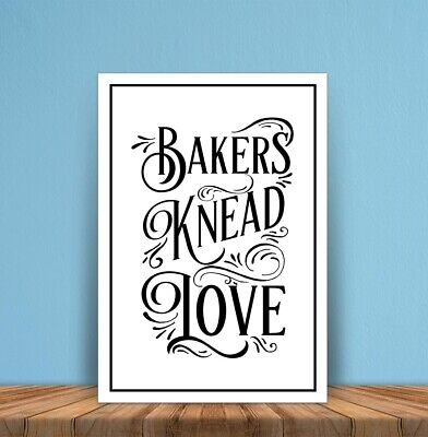Metal signs plaques Bakers Knead Love Kitchen printed quotes wall art home decor