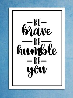 Metal signs plaques Be Brave motivational printed quotes wall art home decor