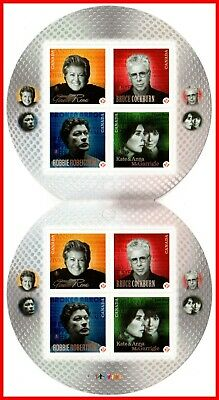 Canada Stamp Mint Booklet(BK462) #2483ii(2483(a-d) - Canadian Recording Artists