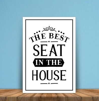 Metal signs plaques Best Seat in House Toilet printed quotes wall art home decor