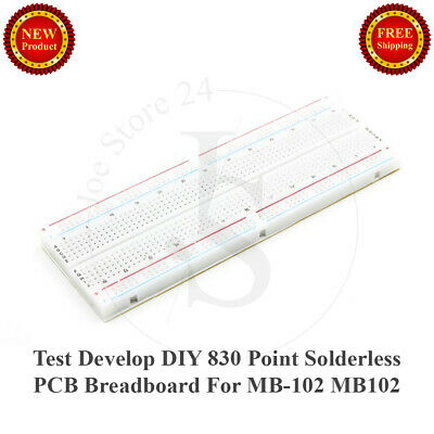 1pcs NEW Test Develop DIY 830 Point Solderless PCB Breadboard For MB-102 MB102
