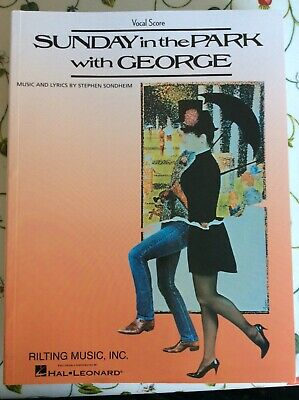 Stephen Sondheim Sunday In The Park With George Vocal Score VOICE MUSIC BOOK