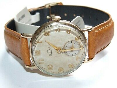 Lovely Looking Solid 9ct Gold Vintage 1964 Smiths Deluxe Watch, Fully Working
