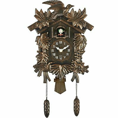 Acctim Hamburg Antique Bronze Cuckoo Wall Clock Hourly with Night Shut Off