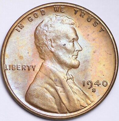 BU Nice bright wheat penny 1939 P Lincoln Cent