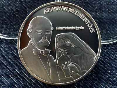 Hungary Gorgeous People Ignac Semmelweis .999 Silver Coin PP